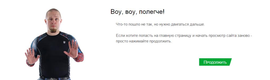Шаблон 404 ошибки